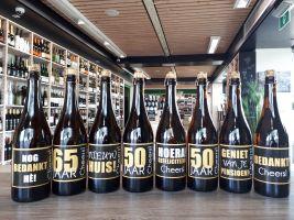 Felicitatie flessen Bier & Wijn